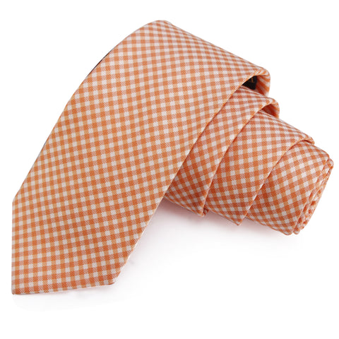 Superb Orange Colored Microfiber Necktie for Men | Genuine Branded Product from Peluche.in
