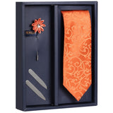 Gift Box Includes 1 Neck Tie, 1 Brooch & 1 Pair of Collar Stays for Men | Genuine Branded Product from Peluche.in