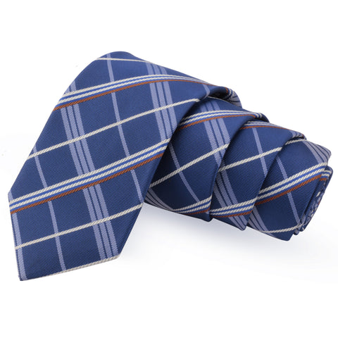 Impressive Blue Colored Microfiber Necktie for Men | Genuine Branded Product from Peluche.in