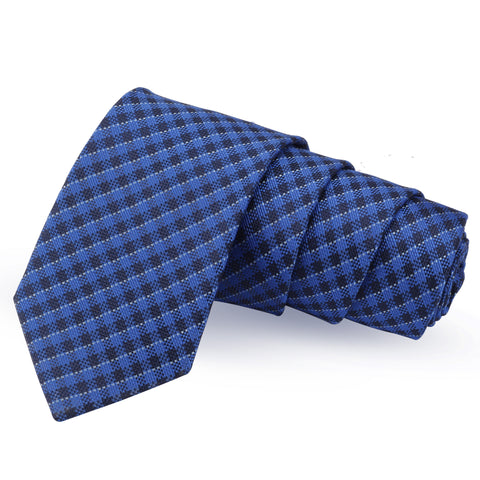 Genteel Blue Colored Microfiber Necktie for Men | Genuine Branded Product from Peluche.in