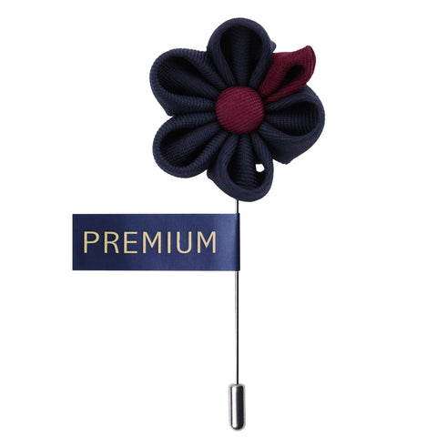 Dual Shaded Beauty Navy Blue & Maroon Colored Brooch / Lapel Pin for Men | Genuine Branded Product from Peluche.in