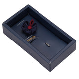 Dual Shaded Beauty Navy Blue & Maroon Colored Brooch / Lapel Pin for Men