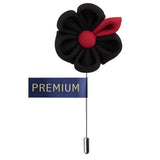 Dual Shaded Beauty Black & Red Colored Brooch / Lapel Pin for Men | Genuine Branded Product from Peluche.in