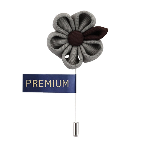 Dual Shaded Beauty Grey & Dark Brown Colored Brooch / Lapel Pin for Men | Genuine Branded Product from Peluche.in
