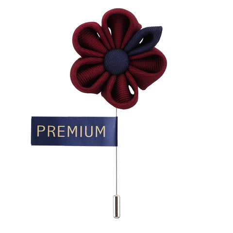 Dual Shaded Beauty Maroon & Navy Blue Colored Brooch / Lapel Pin for Men | Genuine Branded Product from Peluche.in