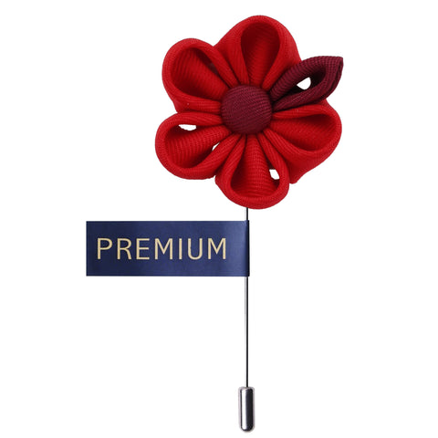 Dual Shaded Beauty Red & Maroon Colored Brooch / Lapel Pin for Men | Genuine Branded Product from Peluche.in