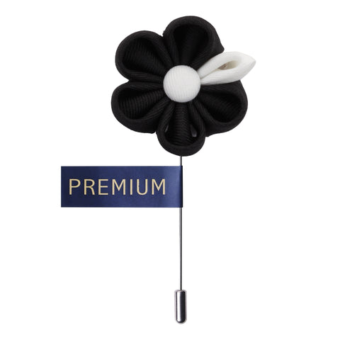 Dual Shaded Beauty Black & White Colored Brooch / Lapel Pin for Men | Genuine Branded Product from Peluche.in