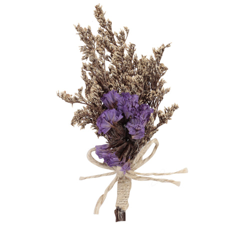 Pretty Bouquet Purple, Brown & Beige Colored Brooch / Lapel Pin for Men