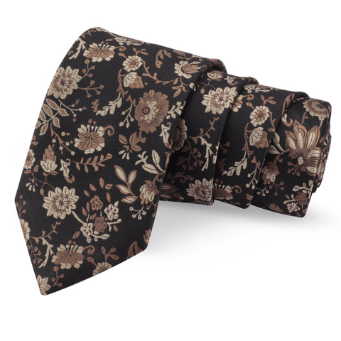 Winning Black Colored Microfiber Necktie for Men | Genuine Branded Product from Peluche.in