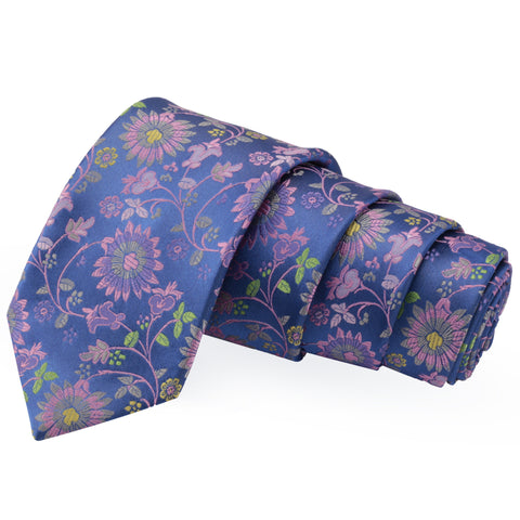 Sharp Blue Colored Microfiber Necktie for Men | Genuine Branded Product from Peluche.in