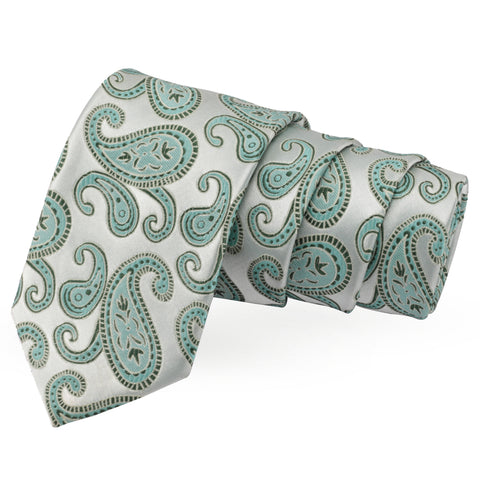 Captivating Silver Colored Microfiber Necktie for Men | Genuine Branded Product from Peluche.in
