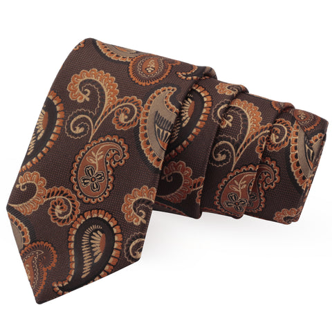 Smashing Brown Colored Microfiber Necktie for Men | Genuine Branded Product from Peluche.in