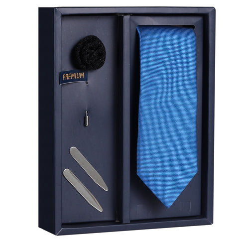 The Dazzaling Shine Gift Box Includes 1 Neck Tie, 1 Brooch & 1 Pair of Collar Stays for Men | Genuine Branded Product from Peluche.in