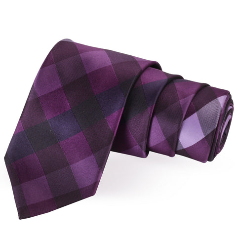Sleek Purple Colored Microfiber Necktie for Men | Genuine Branded Product from Peluche.in