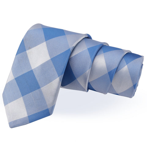 Dapper Blue Colored Microfiber Necktie for Men | Genuine Branded Product from Peluche.in