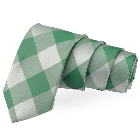 Dapper Green Colored Microfiber Necktie for Men | Genuine Branded Product from Peluche.in