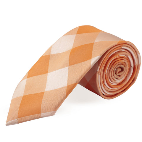 Dapper Orange Colored Microfiber Necktie for Men | Genuine Branded Product from Peluche.in