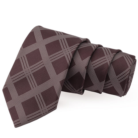 Urbane Brown Colored Microfiber Necktie for Men | Genuine Branded Product from Peluche.in