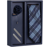 The Plum Assort Gift Box Includes 1 Neck Tie, 1 Brooch & 1 Pair of Collar Stays for Men | Genuine Branded Product from Peluche.in