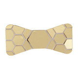 Gleaming Style Golden and Black Colored Acrylic Hex Bow Tie for Men | Genuine Branded Product from Peluche.in