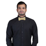Gleaming Style Golden and Black Colored Acrylic Hex Bow Tie for Men