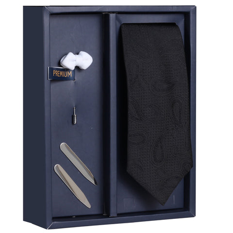 The Exquisite Brew Gift Box Includes 1 Neck Tie, 1 Brooch & 1 Pair of Collar Stays for Men | Genuine Branded Product from Peluche.in