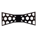 Fun Geometry Black Colored Acrylic Hex Bow Tie for Men | Genuine Branded Product from Peluche.in
