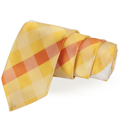 Groovy Yellow Colored Microfiber Necktie for Men | Genuine Branded Product from Peluche.in