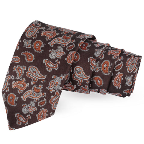 Trend Setting Brown Colored Microfiber Necktie for Men | Genuine Branded Product from Peluche.in