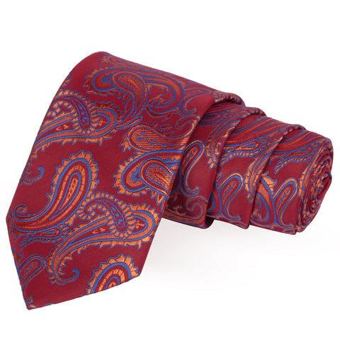 Slick Maroon Colored Microfiber Necktie for Men | Genuine Branded Product from Peluche.in