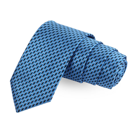 Mini Blue Arrows Blue Colored Microfiber Necktie For Men | Genuine Branded Product  from Peluche.in