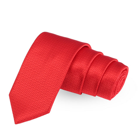 Splash Red Colored Microfiber Necktie For Men | Genuine Branded Product  from Peluche.in