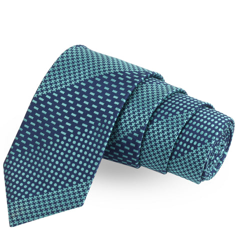 The Classic Medley Blue Colored Microfiber Necktie For Men | Genuine Branded Product  from Peluche.in