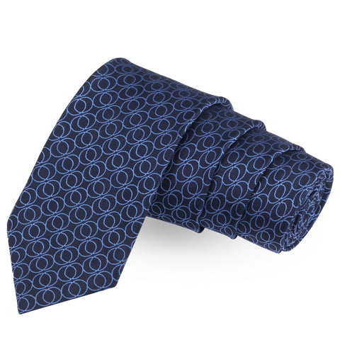 Ringer Blue Colored Microfiber Necktie For Men | Genuine Branded Product  from Peluche.in