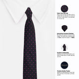 Printed Microfiber Necktie For Men