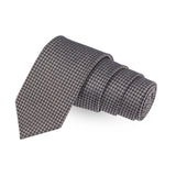 Aristocratic Black Colored Microfiber Necktie For Men