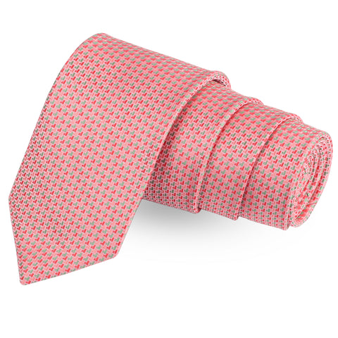 Perky Peach Pink Colored Microfiber Necktie For Men | Genuine Branded Product  from Peluche.in
