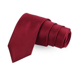 The Majestic Snap Red Colored Microfiber Necktie For Men | Genuine Branded Product  from Peluche.in