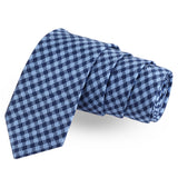 The Checkersome Blue Colored Microfiber Necktie For Men | Genuine Branded Product  from Peluche.in