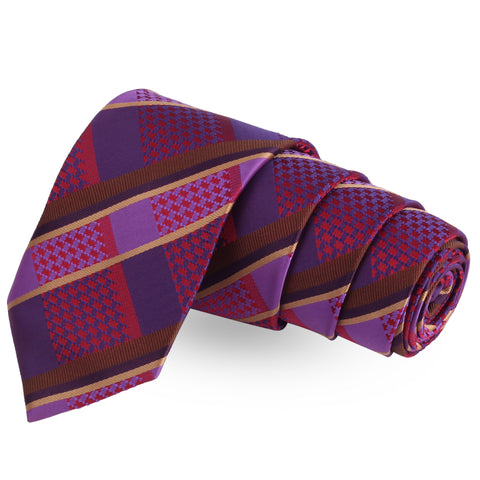 Spooky Groove Purple Colored Microfiber Necktie For Men | Genuine Branded Product  from Peluche.in