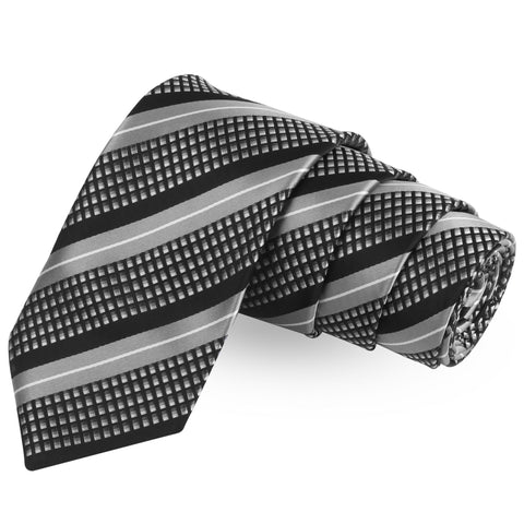 Inverted Blaze  Blue Colored Microfiber Necktie For Men | Genuine Branded Product  from Peluche.in