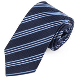 Blue Ombre Microfiber Necktie For Men