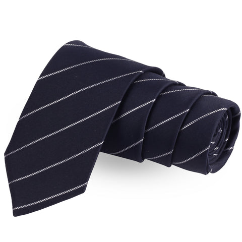 Eloquent Stripes Blue Colored Microfiber Necktie For Men | Genuine Branded Product  from Peluche.in