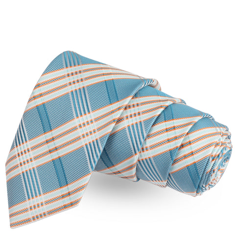 Perfectly Styled Blue Colored Microfiber Necktie For Men | Genuine Branded Product  from Peluche.in