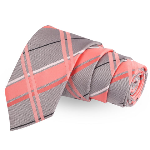Modish Dappled Pink Colored Microfiber Necktie For Men | Genuine Branded Product  from Peluche.in