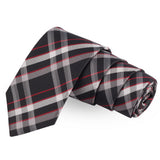 Double Checked Black Colored Microfiber Necktie For Men | Genuine Branded Product  from Peluche.in