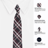 Double Checked Microfiber Necktie For Men