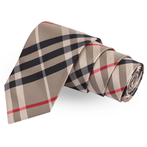 Well Formed Beige Colored Microfiber Necktie For Men | Genuine Branded Product  from Peluche.in