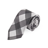 Delightful Squares Microfiber Necktie For Men
