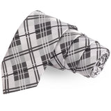 The Radiant Checks White Colored Microfiber Necktie For Men | Genuine Branded Product  from Peluche.in